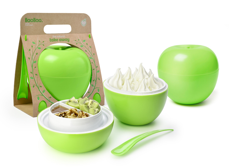Nuevo packaging para el take away de llaollao.