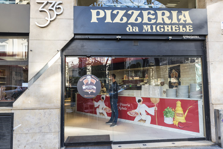 Local de L'Antica Pizzeria Da Michele en Barcelona.