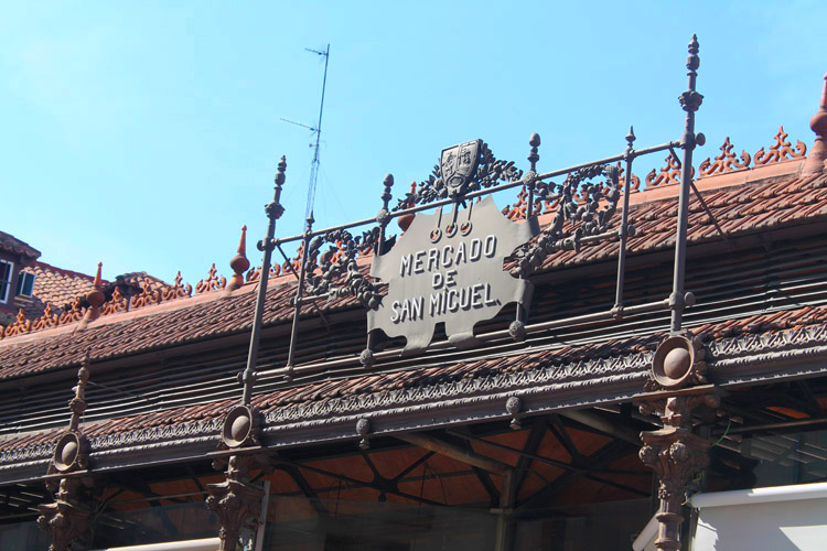 Fachada del Mercado de San Miguel en Madrid.